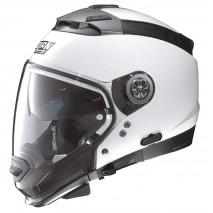 Moto helma Nolan N44 Evo Classic N-Com Metal White 5