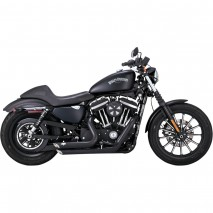 Černý Vance & Hines výfuk SHORTSHOTS STAGGERED Harley Davidson
