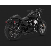 Černý Vance & Hines výfuk 2-INTO-1 UPSWEEP BLACK Harley Davidson