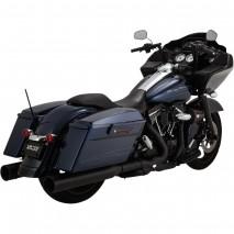 Černý Vance & Hines výfuk POWER DUALS BLACK Harley Davidson