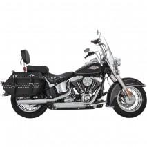 Chromovaný Vance & Hines výfuk EC TWIN SLASH SLIP-ONS pro Harley Davidson