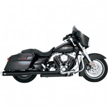 Černý Vance & Hines výfuk DRESSER DUALS BLACK pro Harley Davidson