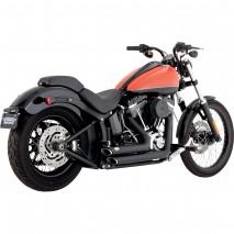 Černý Vance & Hines výfuk SHORTSHOTS STAGGERED BLACK Harley Davidson