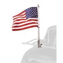 Vlajka USA s chromovaným držákem