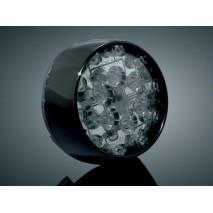 Lesklé černé LED zadní blinkry Harley Davidson