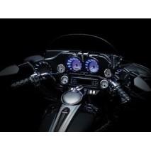 Černé LED lemy budíků Harley Davidson