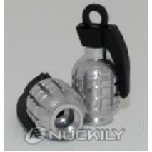 Čepičky ventilků - stříbrné