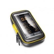 """Voděodolný držák CELLY FLEXBIKE pro 5"""" telefony a navigace k upevnění na řídítka"""