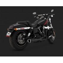 Černý Vance & Hines výfuk HI-OUTPUT 2-INTO-1 SHORT BLACK Harley Davidson