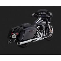Chromovaný Vance & Hines výfuk OVERSIZED 450 TITAN SLIP-ONS Harley Davidson