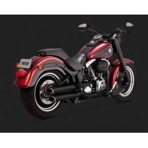 Černý Vance & Hines výfuk EC TWIN SLASH SLIP-ONS BLACK Harley Davidson