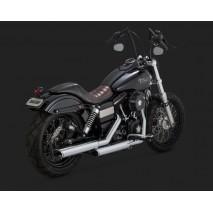 Chromovaný Vance & Hines výfuk EC TWIN SLASH SLIP-ONS Harley Davidson