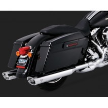 Chromovaný Vance & Hines výfuk MONSTER OVALS WITH CHROME TIPS Harley Davidson