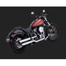 Chromovaný Vance & Hines výfuk TWIN SLASH 3″ SLIP-ONS pro Harley Davidson