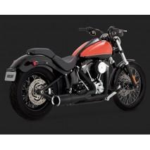 Černý Vance & Hines výfuk HI-OUTPUT 2-INTO-1 SHORT pro Harley Davidson