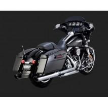 Chromované Vance & Hines koncovky výfuků TWIN SLASH ROUND SLIP-ONS pro Harley-Davidson