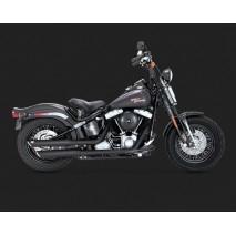 Černý Vance & Hines výfuk TWIN SLASH 3″ SLIP-ONS BLACK Harley-Davidson