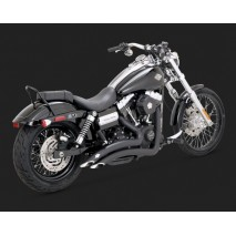 Černý Vance & Hines výfuk BIG RADIUS 2-INTO-2 BLACK Harley-Davidson