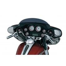 Chromované lemy větších budíků Harley-Davidson